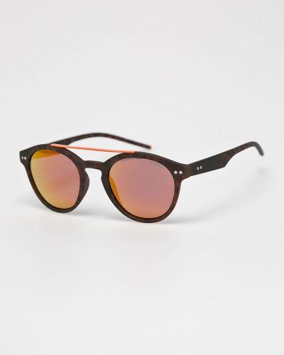 Солнцезащитные очки круглые стеклянные Polaroid