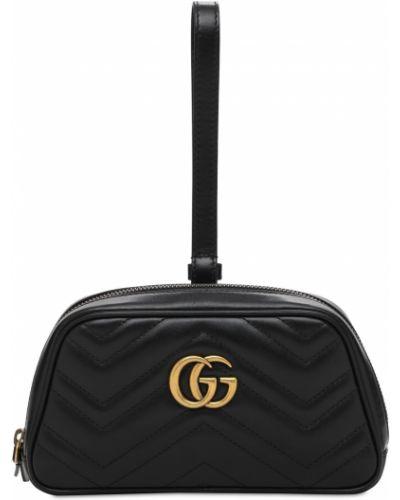 Z paskiem skórzany portfel złoto Gucci