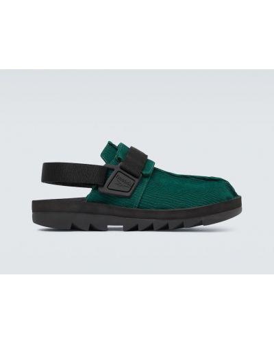 Zielony zamsz z paskiem sandały na paskach Reebok