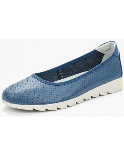 Синие кожаные балетки Rio Fiore