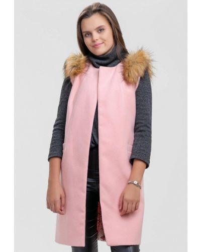 Розовая длинная жилетка Sfn