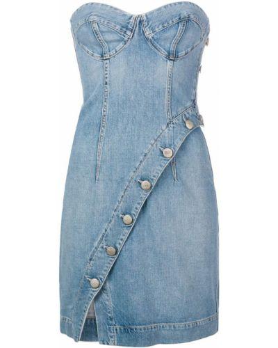 Облегающее платье джинсовое на молнии Jean Atelier