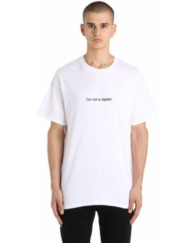 Biały t-shirt bawełniany Famt - Fuck Art Make Tees