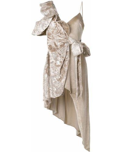 Платье с запахом из вискозы Self-portrait