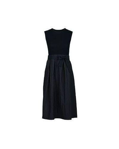 Платье из вискозы черное Peserico