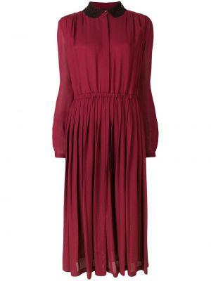 Шелковое платье макси - красное Giambattista Valli