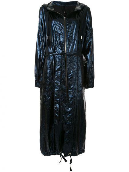 С рукавами пальто с капюшоном на молнии айвори металлическое Taylor