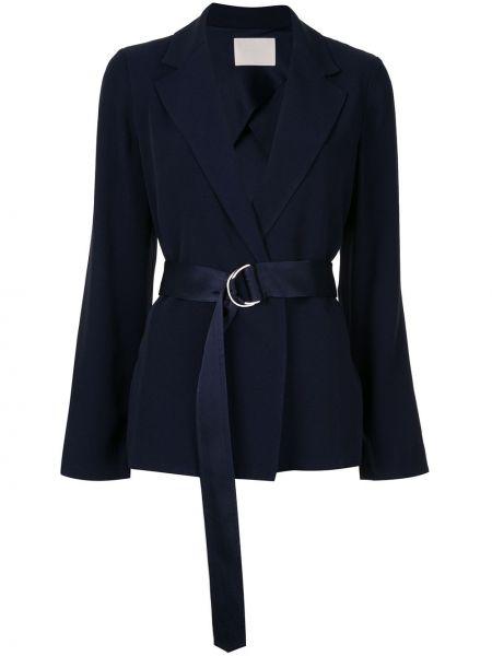 Синий короткая куртка с запахом Dion Lee