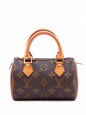 Коричневая сумка на молнии Louis Vuitton