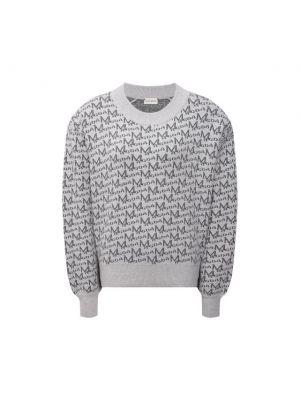 Шерстяной пуловер - серый Magda Butrym