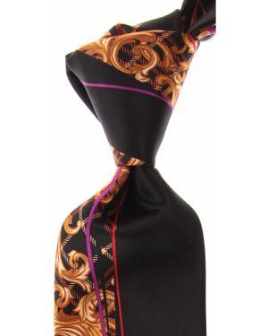 Złoty krawat - czarny Pancaldi