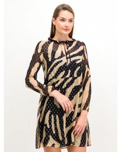 Beżowa sukienka casual Pennyblack