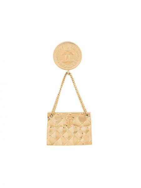Broszka na łańcuchu zabytkowe Chanel Pre-owned