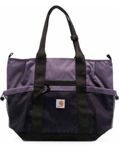 Фиолетовая сумка тоут с нашивками на молнии Carhartt Wip