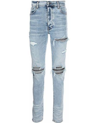 Синие джинсы скинни Amiri