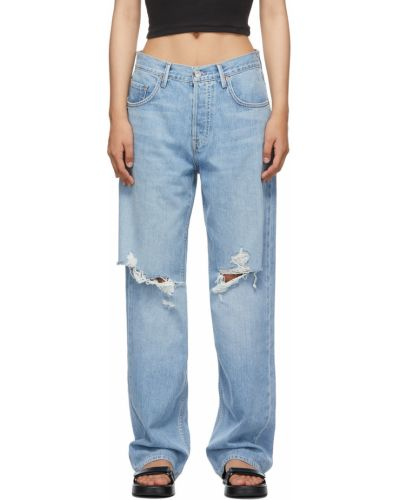 Białe jeansy z paskiem Grlfrnd
