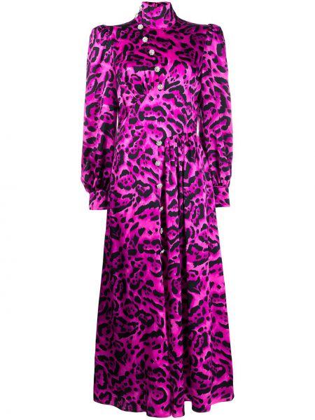 Платье миди на пуговицах леопардовое Alessandra Rich
