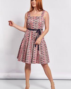 Летнее платье с поясом со складками Jetty