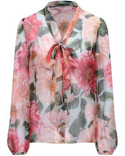 Розовая шелковая блузка Dolce & Gabbana