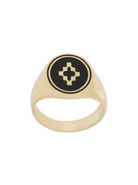 Кольцо черный из золота Marcelo Burlon. County Of Milan
