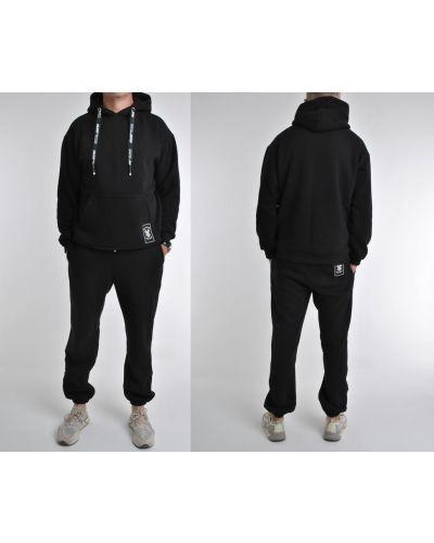 Трикотажные спортивные брюки - черные Fashion Club