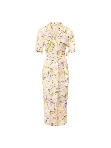 Льняное платье - желтое 120% Lino
