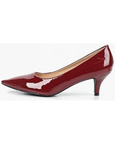 Туфли на каблуке кожаные бордовый Queen Vivi