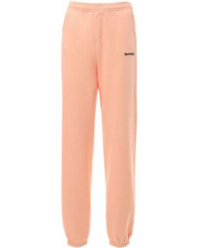 Розовые спортивные брюки эластичные Sporty And Rich