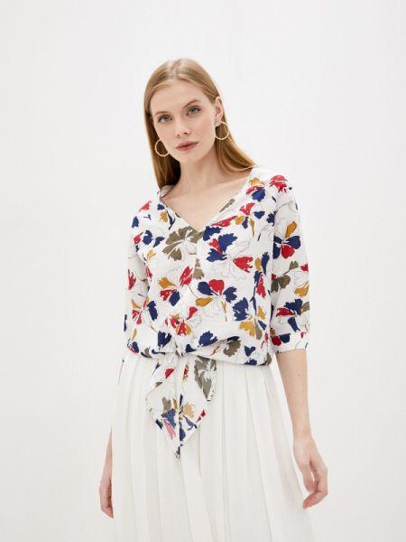 Блузка с коротким рукавом белая осенняя Sweewe