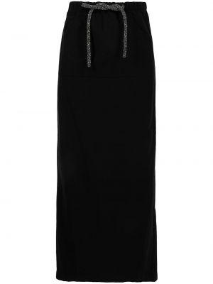 Хлопковая юбка макси - черная Christopher Esber