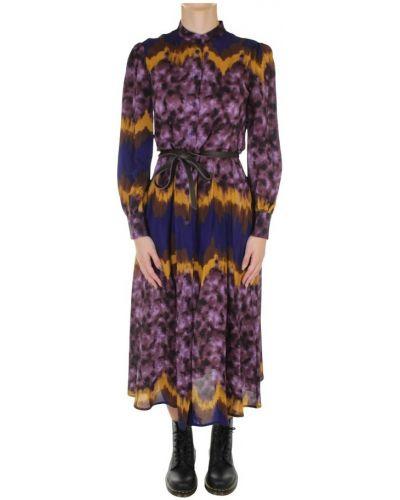 Fioletowa sukienka długa Dixie