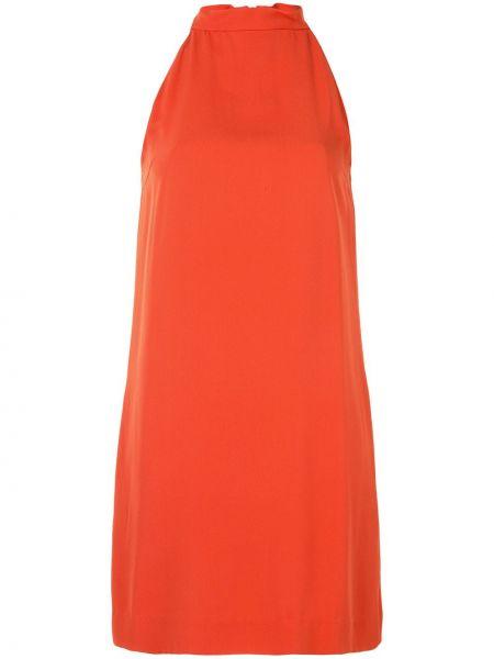 Шелковое платье без рукавов с вырезом на молнии Céline Pre-owned