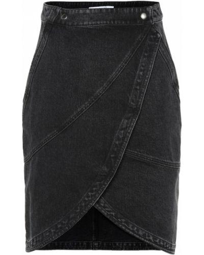 Джинсовая юбка с запахом классическая Givenchy