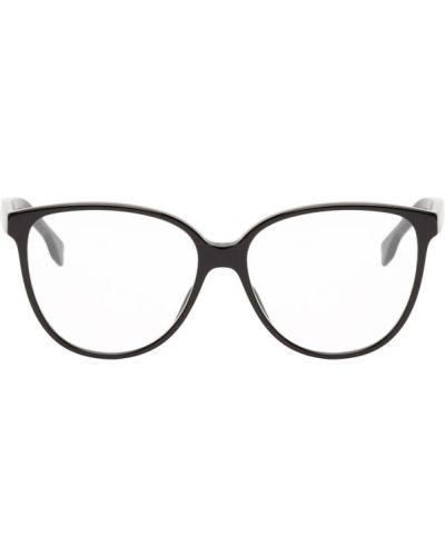 Кожаные черные очки для зрения с тиснением Dior