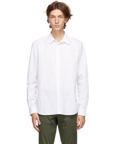 Biały bawełna koszula z mankietami z kołnierzem Norse Projects