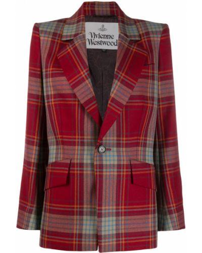 Однобортный удлиненный пиджак с карманами Vivienne Westwood
