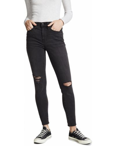 Зауженные черные джинсы-скинни с карманами Madewell