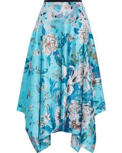 Spódnica asymetryczna z jedwabiu z printem Diane Von Furstenberg