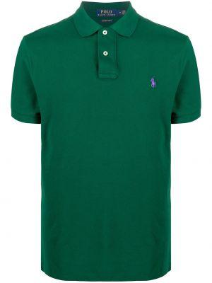 Zielone polo z haftem bawełniane Polo Ralph Lauren