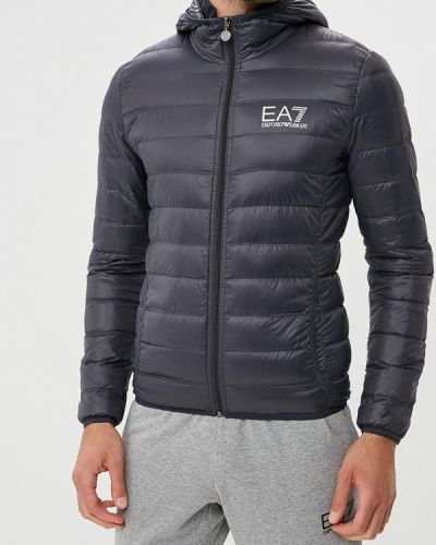 Зимняя куртка осенняя серая Ea7