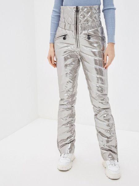 Утепленные брюки - серебряные Naumi