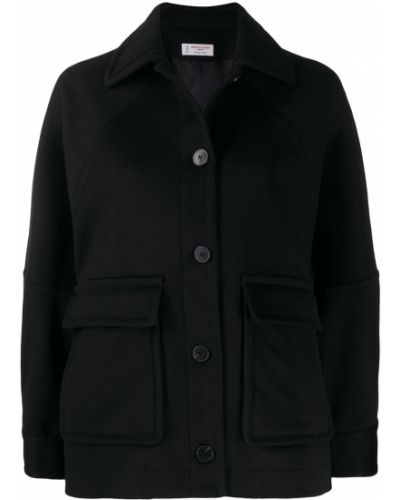Черная куртка с манжетами Alberto Biani