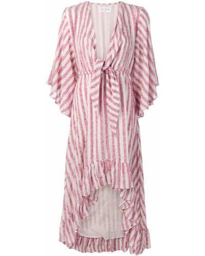 Платье макси розовое в полоску Sundress