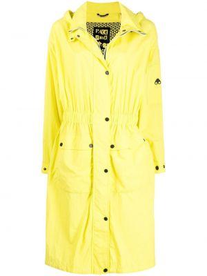 Желтый плащ классический с капюшоном на молнии Moose Knuckles