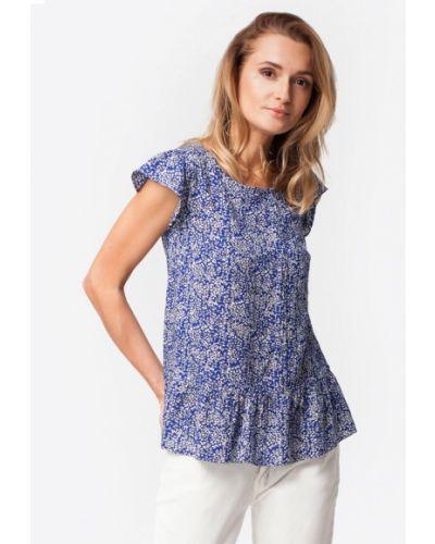 Блузка синяя весенний Vilatte