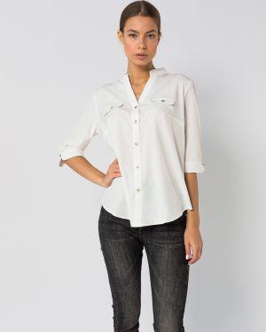 Хлопковая блузка - белая H.t.h
