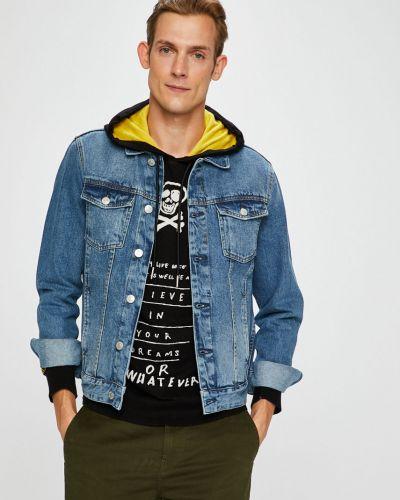 Джинсовая куртка укороченная на пуговицах Review