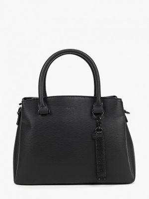 Черная кожаная сумка с ручками Aldo
