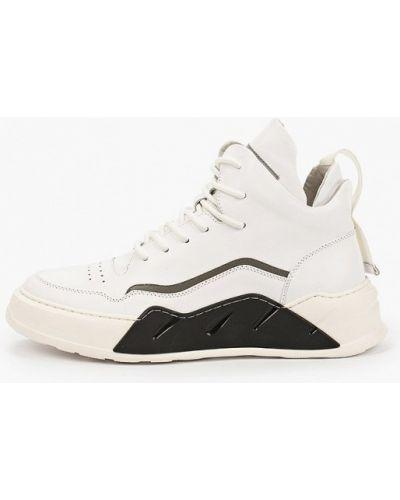 Белые высокие кроссовки осенние Dino Ricci Trend