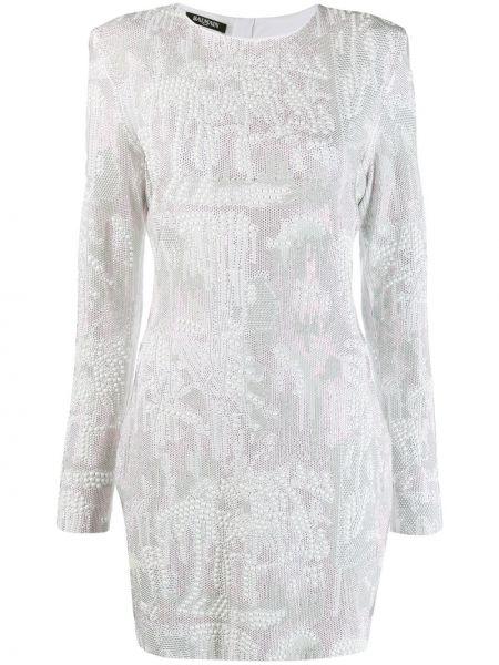 Платье макси длинное - белое Balmain